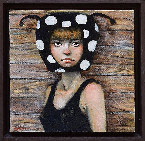 Chernata kalinka- kartina ot Elissaveta Angelova-30x30