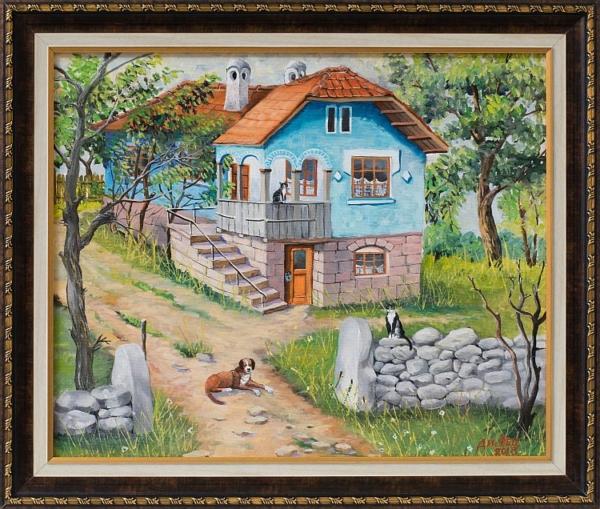 Димитър Вецин - Синята къща, 42/50 см.