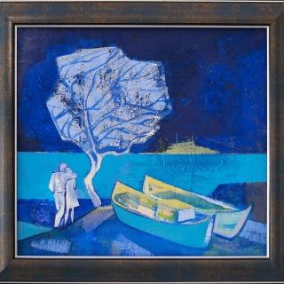 Петко Антонов - В синята вечер, 32/35 см.