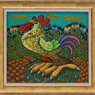 Guido Vedovato - Rooster-35x40-2018