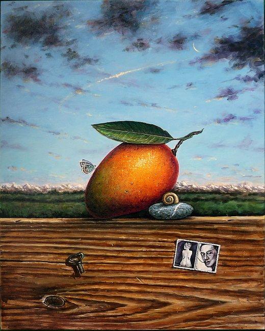 Iskren Semkov- Composition with mango-50x40