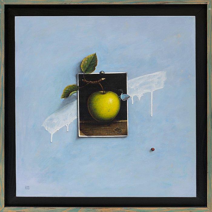Iskren Semkov- Illusion avec pomme-50x50