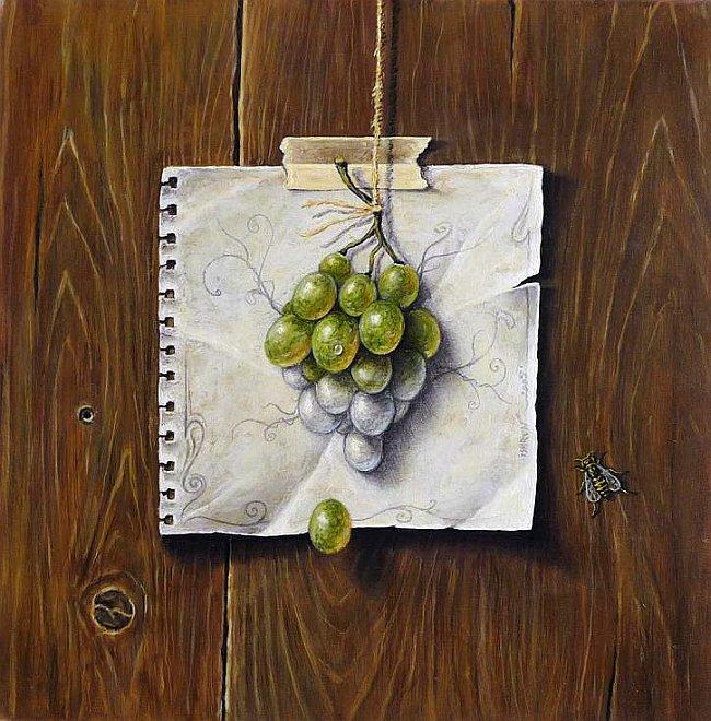 Iskren Semkov- Still Life with Grapes-30x30-2009
