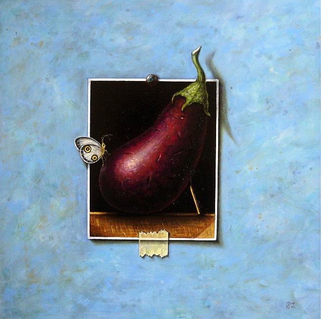 Iskren Semkov- Still life with eggplant-2014-30x30