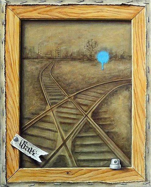 Iskren Semkov-behind-the-scene-oil-on-canvas-41x33cm