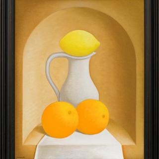 Stefan-Sakalov-Natyrmort-s-kana-limon-i-portokali-50x40