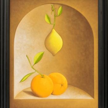 Stefan-Sakalov-Natyrmort-s-limon-i-portokali-50x40