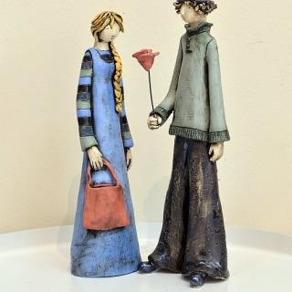 Izabell Nemechek- keramika-Roza za lyubimata-h30cm