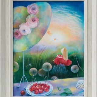 Natasha Villone - Enchanted garden-40x30cm