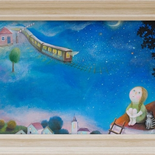 Natasha Villone-Steam train to the Milky Way-30x50