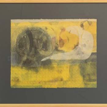Vasil Popov- abstraktno zhalto-akvarel-29x36-45x52-2002
