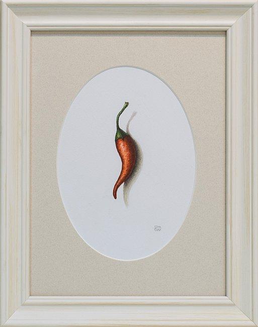 Iskren Semkov- Object-Hot Pepper-24x18-framed-28x22