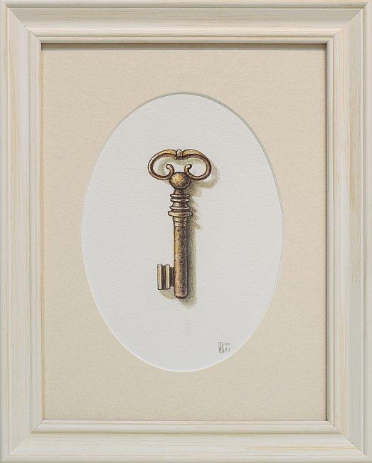 Iskren Semkov- Object Key-24x18-framed-28x22