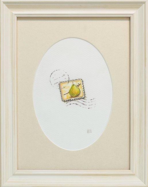 Iskren Semkov- Object-post stamp-24x18-framed-28x22