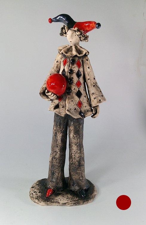 Kloun s chervena topka-keramika-ot-Izabel-Nemechek
