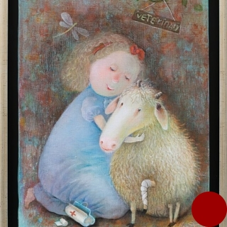 Natasha Villone- My poor sheep-40x30cm-2018