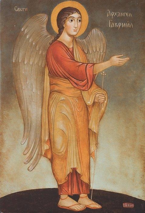 Julia Stankova- Archangel Gabriel-32x22cm