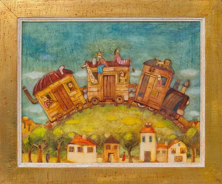 Peter DIMOV - Magic Train-38x48-48x58