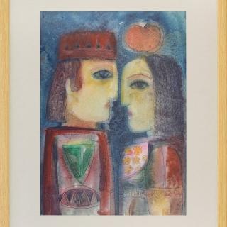 Peter Dimov- Izkushenie-akvarel-36x50-70x55