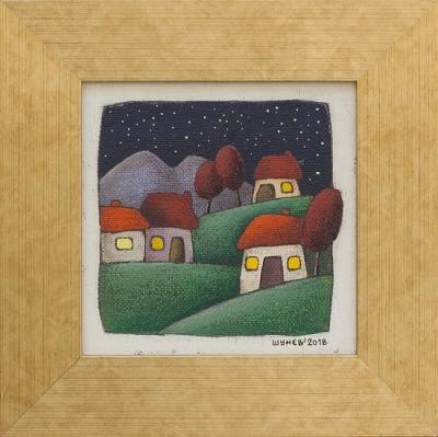 SHUNEV- Night 4, 15x15cm