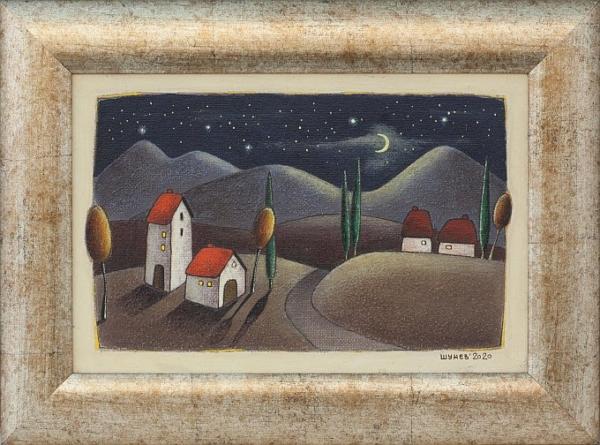 Vladimir SHUNEV- Night Motive 3, 20x30cm-29x39