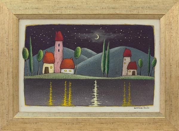 Vladimir SHUNEV- Reflactions-Night, 22x33cm