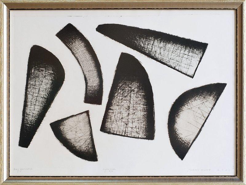 Ivan Ninov- grafika-suha igla-60x80cm-2020