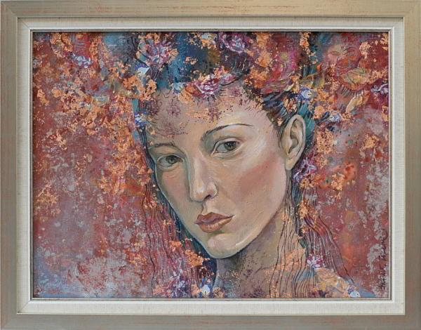 Tsaritsata na rozite- kartina ot Daniela Zekina-30x40cm-36.5x46.5