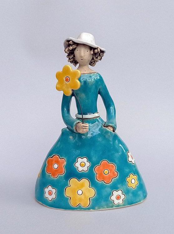 Izabel Nemechek- Sinya roklya na tsvetia-keramika-22x16