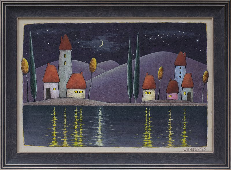 Vladimir SHUNEV- Noshtni otrazhenia-38x55