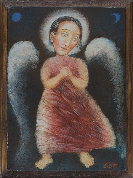 Julia Stankova - Angel na Sastradanieto-20x15cm