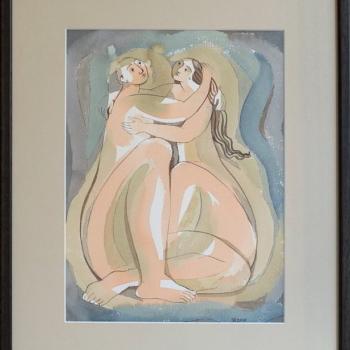 Julia Stankova-akvarel-Dvama-30x22-44x36