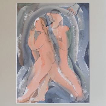 Julia Stankova-akvarel-Napuskana na Raya-35x25-47x37