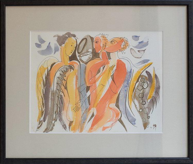 Julia Stankova-akvarel-Preminavasht Angel-22x30-36x44