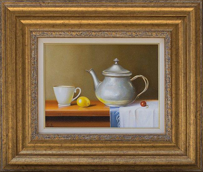 Biser DIMITROV- Natyrmort s chainik i limon-18x24-35x41