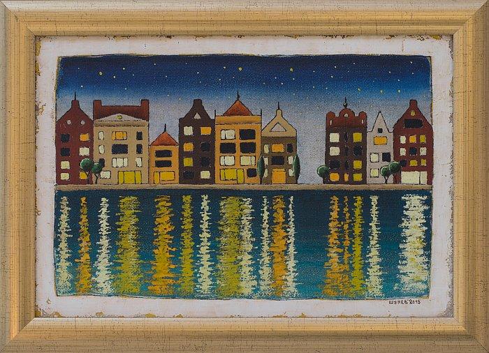 Vladimir Shunev- Amsterdam night-24x35