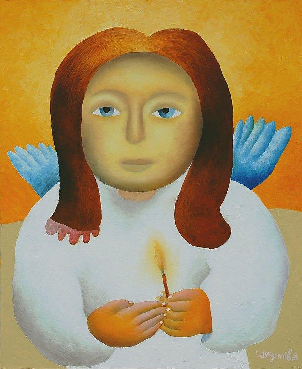 Bogomil Arsov - Angelska molitva-73x60cm