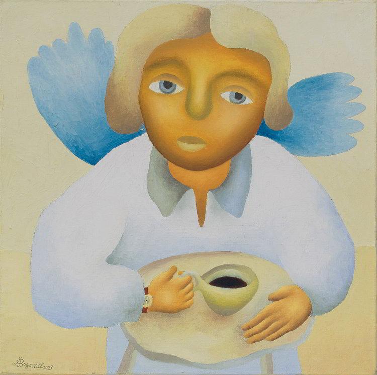 Bogomil Arsov- Angelsko kafe-40x40cm