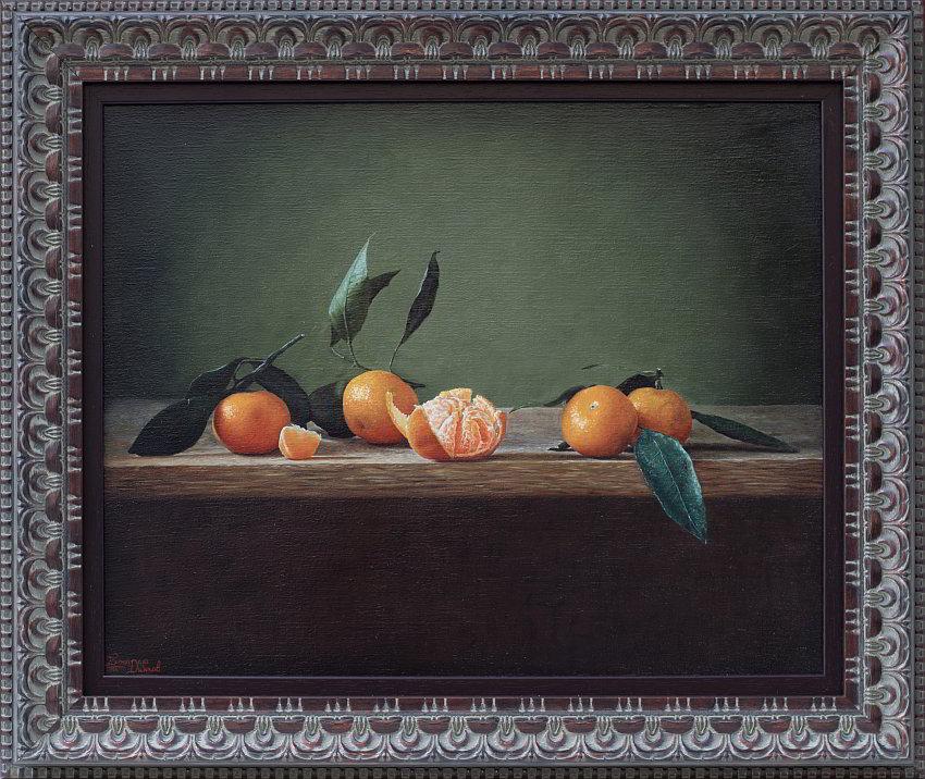 Bozhidar DINKOV- Natyrmort s mandarini-40x50cm